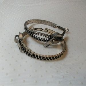 Zipper Hoop Earrings